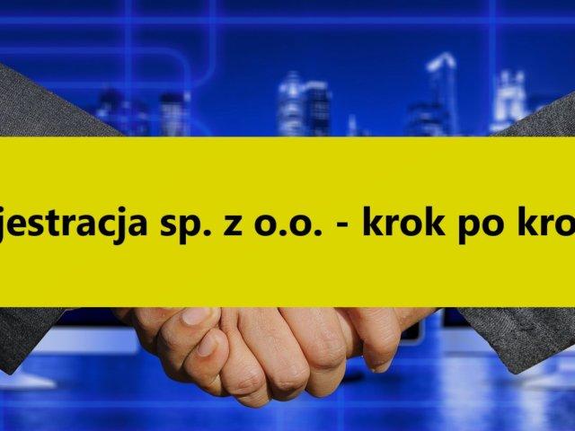 rejestracja sp. z o.o.